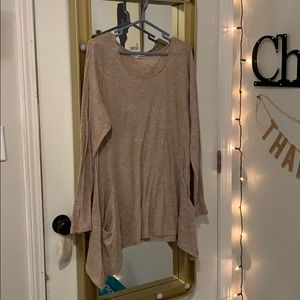 Maurices asymmetrical long sleeve with pockets!